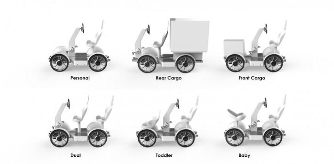 연구진이 개발한 트랜스포머 전기자전거는 용도에 따라 6가지로 형태를 바꿀 수 있다. - UNIST 제공